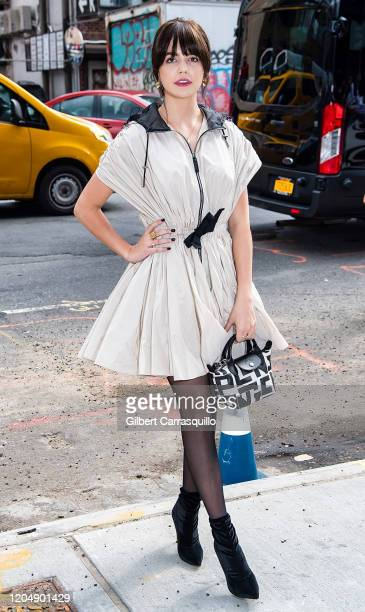 Actress Bailee Madison is seen arriving to the Longchamp Fall/Winter 2020 Runway Show at Hudson Commons on February 08 2020 in New York City