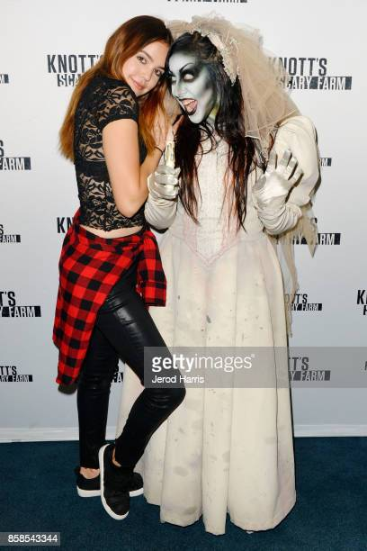 Actress Bailee Madison visits Knott's Scary Farm at Knott's Berry Farm on October 6 2017 in Buena Park California