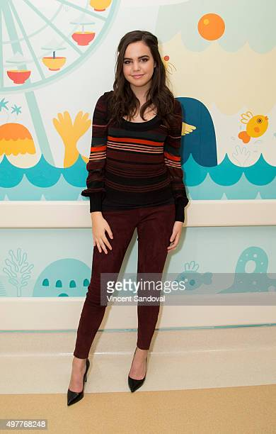 Actress Bailee Madison visits Mattel Children's Hospital UCLA for a special screening of Hallmark Channel's Northpole Open For Christmas at Mattel...