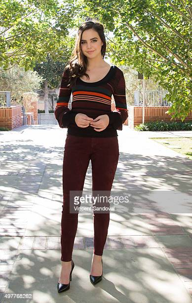 Actress Bailee Madison visits Mattel Children's Hospital UCLA for a special screening of Hallmark Channel's 'Northpole Open For Christmas' at Mattel...