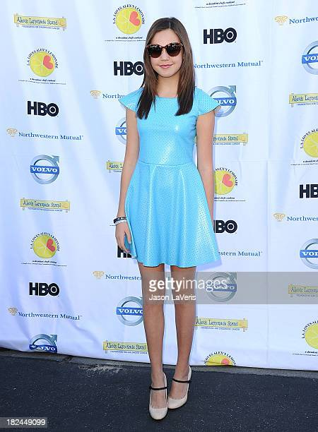Actress Bailee Madisons attend the 4th annual LA Loves Alex's Lemonade event at Culver Studios on September 28 2013 in Culver City California