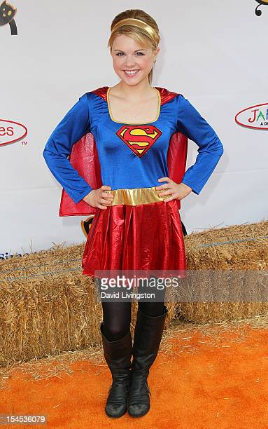 Actress Bailey Buntain attends Camp Ronald McDonald for Good Times 20th Annual Halloween Carnival at the Universal Studios Backlot on October 21 2012...
