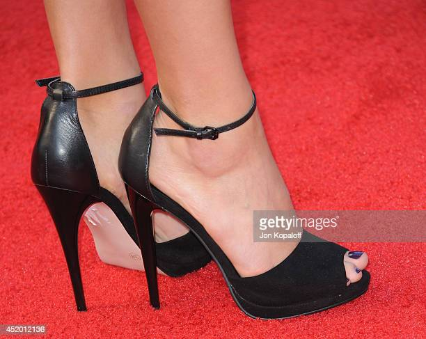 Actress Bailey Noble arrives at the Los Angeles Premiere Sex Tape at Regency Village Theatre on July 10 2014 in Westwood California