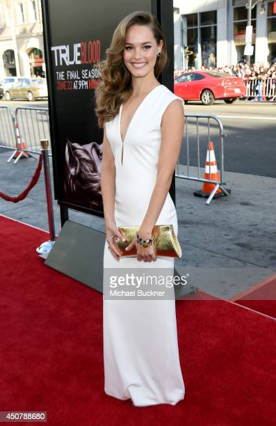 Actress Bailey Noble attends Premiere Of HBO's True Blood Season 7 And Final Season at TCL Chinese Theatre on June 17 2014 in Hollywood California