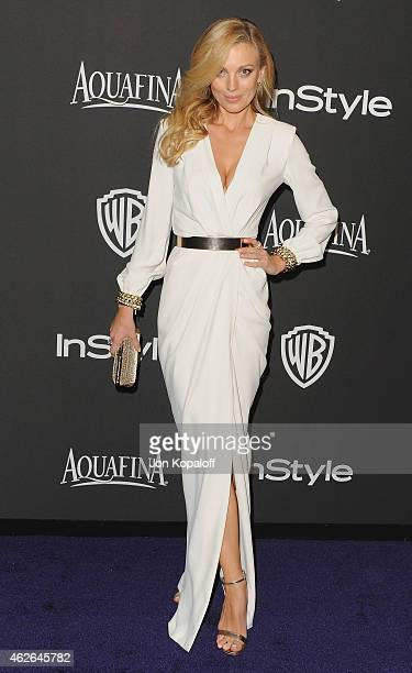 Actress Bar Paly arrives at the 16th Annual Warner Bros And InStyle PostGolden Globe Party at The Beverly Hilton Hotel on January 11 2015 in Beverly...