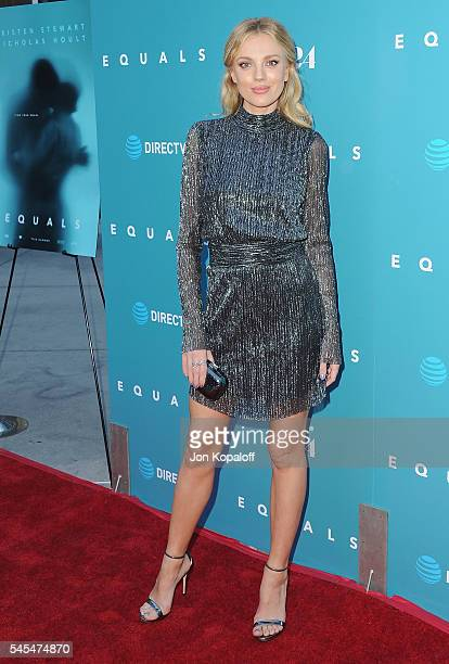 Actress Bar Paly arrives at the Los Angeles Premiere 'Equals' at ArcLight Hollywood on July 7 2016 in Hollywood California