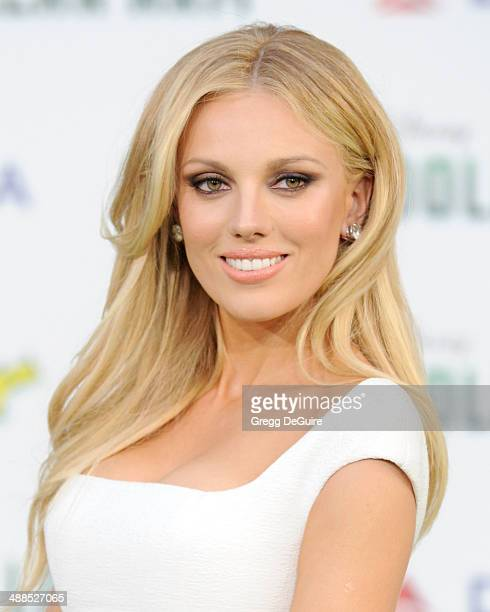Actress Bar Paly arrives at the Los Angeles premiere of Million Dollar Arm at the El Capitan Theatre on May 6 2014 in Hollywood California
