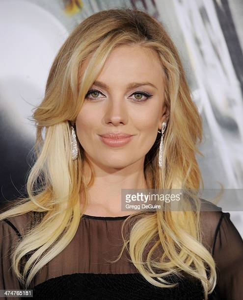 Actress Bar Paly arrives at the Los Angeles premiere of 'NonStop' at Regency Village Theatre on February 24 2014 in Westwood California