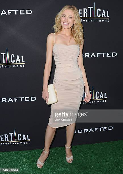 Actress Bar Paly arrives at the Los Angeles Premiere Undrafted at ArcLight Hollywood on July 11 2016 in Hollywood California