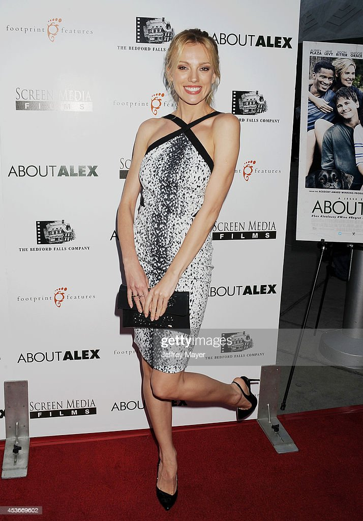 Actress Bar Paly attends the 'About Alex' Los Angeles premiere held at the Arclight Theater on August 6, 2014 in Hollywood, California.