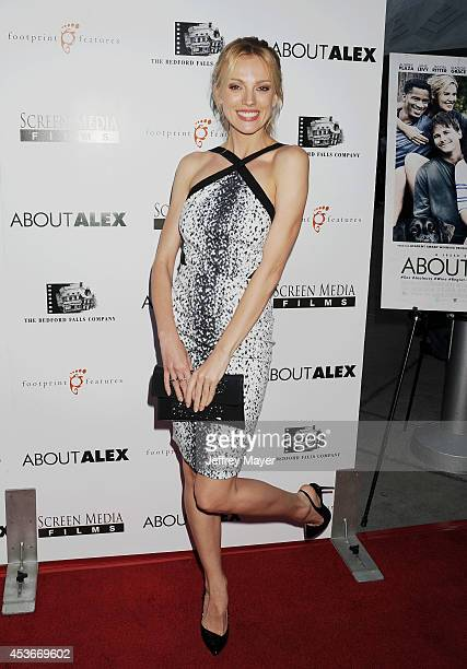 Actress Bar Paly attends the 'About Alex' Los Angeles premiere held at the Arclight Theater on August 6 2014 in Hollywood California