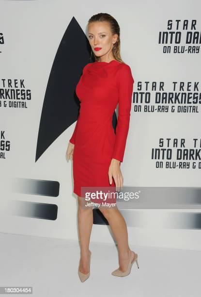 Actress Bar Paly attends the Paramount Pictures' celebration of the BluRay and DVD debut of 'Star Trek Into Darkness' at California Science Center on...