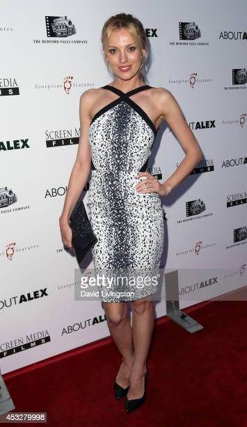 Actress Bar Paly attends the premiere of 'About Alex' at ArcLight Hollywood on August 6 2014 in Hollywood California