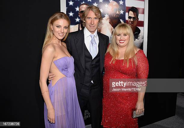 Actress Bar Paly director/producer Michael Bay and actress Rebel Wilson arrive at the premiere of Paramount Pictures' 'Pain Gain' at TCL Chinese...