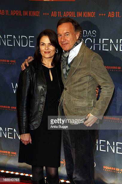 Actress Barbara Auer and producer Nico Hofmann attend the 'Das Wochenende' premiere at Kino International on April 4, 2013 in Berlin, Germany.