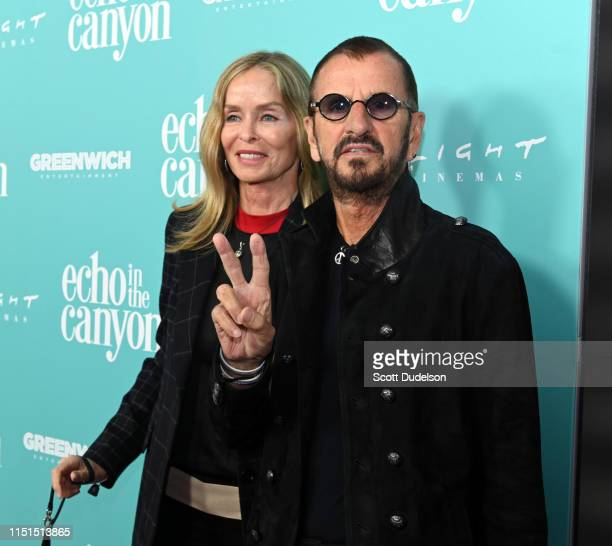 Actress Barbara Bach and musician Ringo Starr attends the premiere of 'Echo in the Canyon' at ArcLight Cinerama Dome on May 23 2019 in Hollywood...