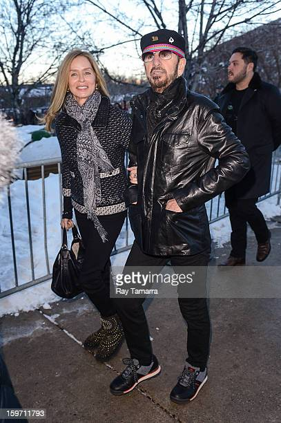Actress Barbara Bach and musician Ringo Starr enter the Park City Library on January 18 2013 in Park City Utah