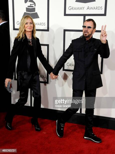 Actress Barbara Bach and recording artist Ringo Starr attend the 56th GRAMMY Awards at Staples Center on January 26 2014 in Los Angeles California