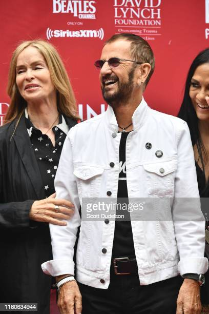 Actress Barbara Bach and Ringo Starr attend the 11th Annual Peace and Love Birthday Celebration honoring Ringo Starr's 79th birthday at Capitol...