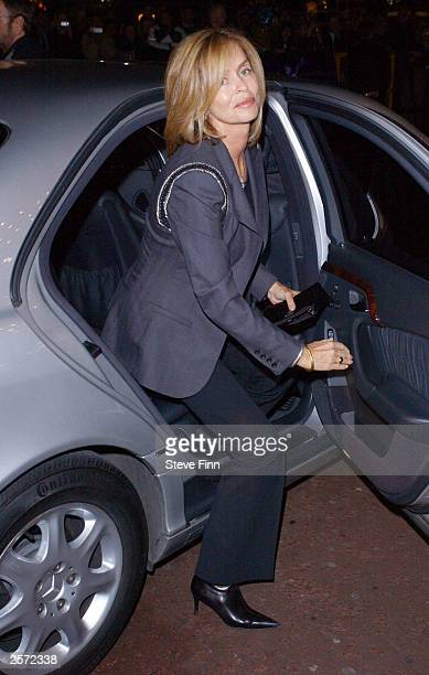 Actress Barbara Bach arrives at the DVD screening of 'A Concert For George' a tribute to the late George Harrison at The Odeon West End October 8...