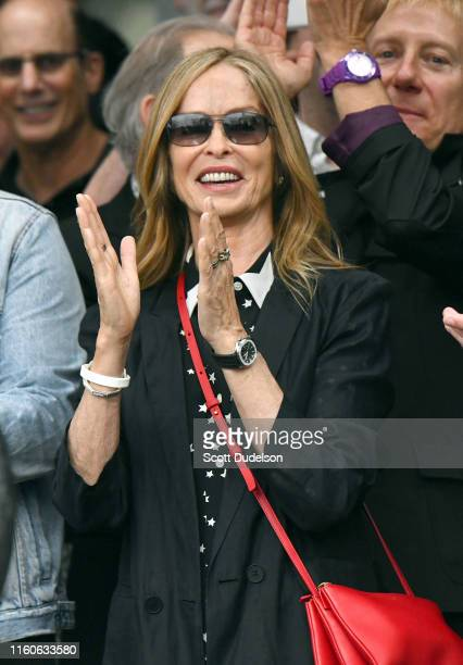 Actress Barbara Bach attends the 11th Annual Peace and Love Birthday Celebration honoring Ringo Starr's 79th birthday at Capitol Records Tower on...