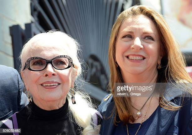 Actress Barbara Bain with daughter at the Barbara Bain Star ceremony held On The Hollywood Walk Of Fame on April 28 2016 in Hollywood California