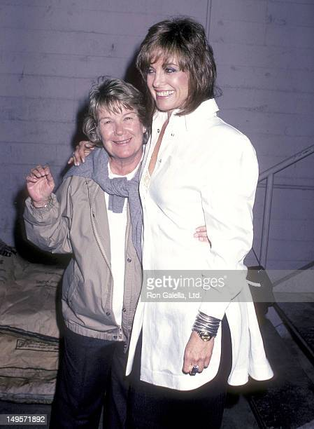 """Actress Barbara Bel Geddes and actress Linda Gray attends the Wrap-Up Parties for the Ninth Season of """"Dallas"""" and the Seventh Season of """"Knots..."""