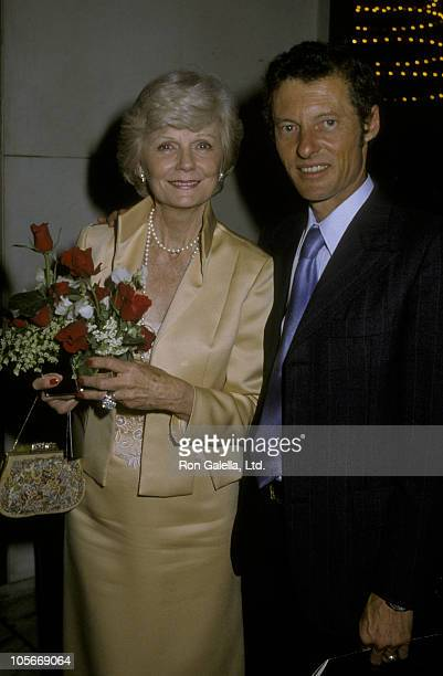 Actress Barbara Billingsley and actor Ken Osmond attend ABC Affiliates Party on May 9, 1983 at the Century Plaza Hotel in Century City, California.