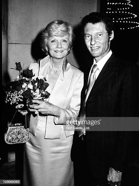 Actress Barbara Billingsley and actor Ken Osmond attend ABC Affiliates Party on May 9 1983 at the Century Plaza Hotel in Century City California