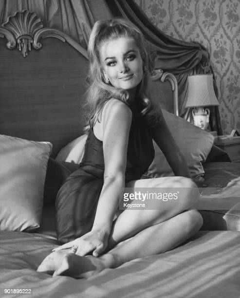 Actress Barbara Bouchet at the Royal Garden Hotel in London 20th March 1967