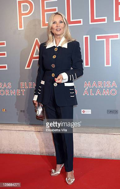 Actress Barbara Bouchet attends 'The Skin I Live In' premiere at Embassy Cinema on September 20 2011 in Rome Italy