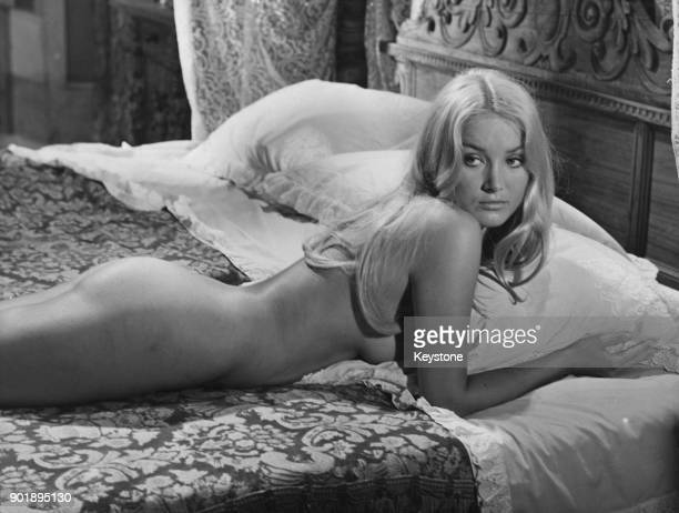 Actress Barbara Bouchet in a nude scene from one of her films circa 1974