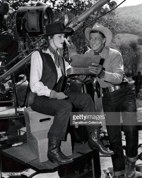 Actress Barbara Britton and Sonny Tufts in a scene from the movie The Untamed Breed