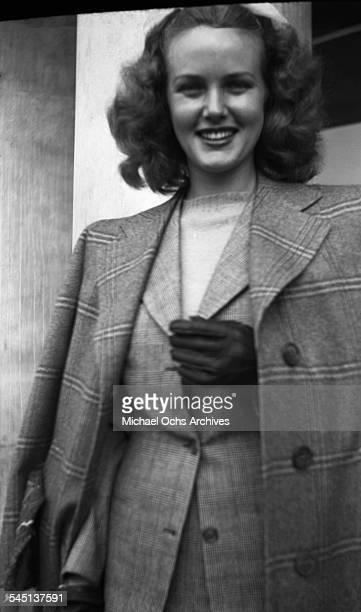 Actress Barbara Britton poses in Los Angeles California
