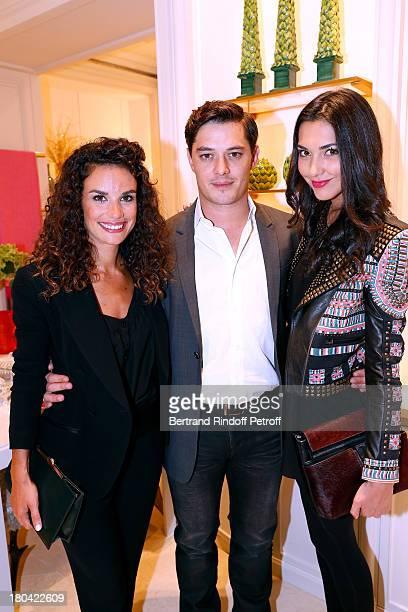 Actress Barbara Cabrita, actor Aurelien Wiik and Aurelie Montea attend 'Vendanges Montaigne 2013' At Dior, Avenue Montaigne on September 12, 2013 in...