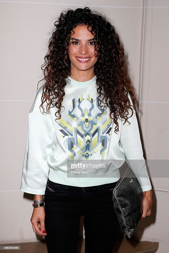 Actress Barbara Cabrita attends the John Galliano show as part of the Paris Fashion Week Womenswear Spring/Summer 2015 on September 28, 2014 in Paris, France.