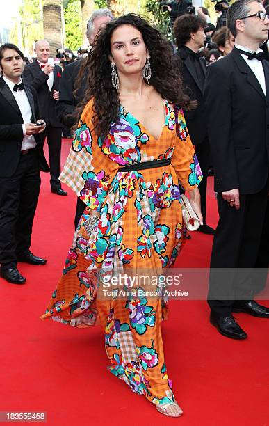 Actress Barbara Cabrita attends the Premiere of 'On Tour' at the Palais des Festivals during the 63rd Annual International Cannes Film Festival on...