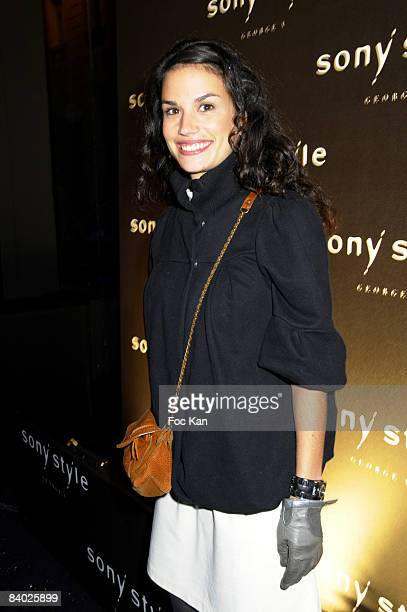 Actress Barbara Cabrita attends the Sony GeorgesV Shop Opening Party Ð Photocall on November 26, 2008 in Paris, France.