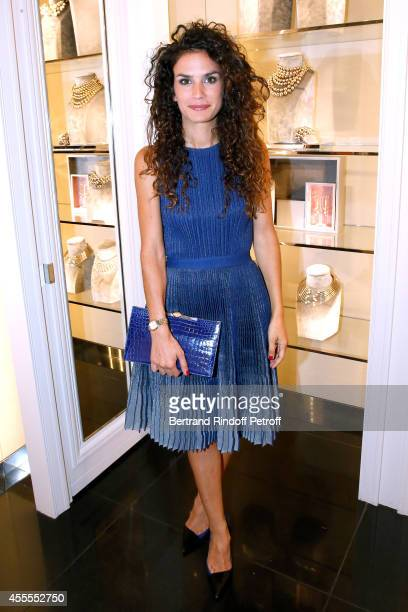 Actress Barbara Cabrita attends the 'Vogue Fashion Night Out 2014' at Dior Rue Royale in Paris on September 16 2014 in Paris France