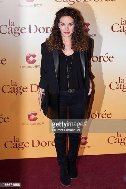 "Actress Barbara Cabrita poses during the premiere of the movie ""La Cage Doree"" at Cinema Gaumont Marignan on April 15, 2013 in Paris, France."