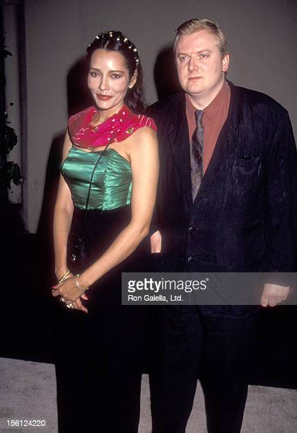 Actress Barbara Carrera and Henry Percy 11th Duke of Northumbeland attend the First Annual Environmental Media Awards on September 30 1991 at Sony...