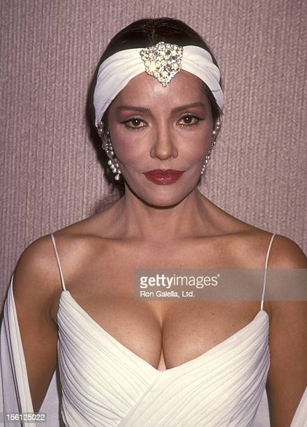Actress Barbara Carrera attends the 39th Annual Thalians Ball on October 8 1994 at Century Plaza Hotel in Los Angeles California