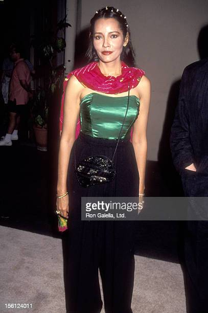 Actress Barbara Carrera attends the First Annual Environmental Media Awards on September 30 1991 at Sony Pictures Studios in Culver City California