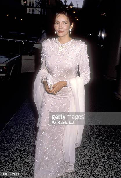 Actress Barbara Carrera attends the Third Annual Ambassador's Ball for Afghanistan on May 4 1990 at Regent Beverly Wilshire Hotel in Beverly Hills...