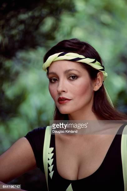 Actress Barbara Carrera in Aerobics Outfit
