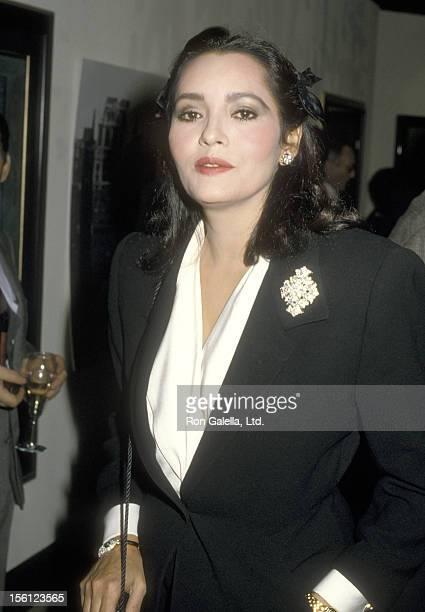 Actress Barbara Carrera on October 29 1986 sighting at The Heritage Gallery in Pacific Palisades California