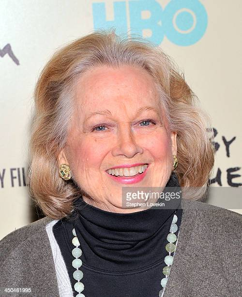 Actress Barbara Cook attends HBO's New York Premiere of Six by Sondheim at Museum of Modern Art on November 18 2013 in New York City