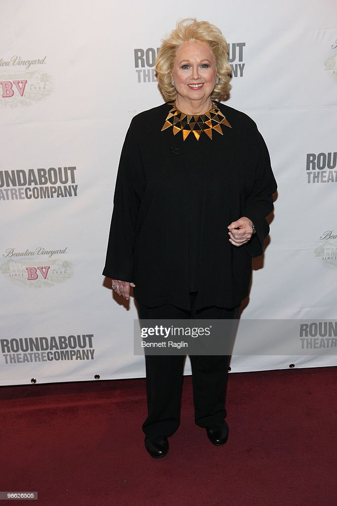 Actress Barbara Cook attends the opening of 'Sondheim on Sondheim' at the Studio 54 on April 22, 2010 in New York City.