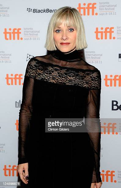Actress Barbara Crampton arrives at You're Next Premiere at Ryerson Theatre during the 2011 Toronto International Film Festival on September 10 2011...