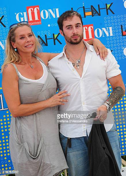 Actress Barbara De Rossi and Anthony Manfredonia attend the 2011 Giffoni Experience on July 15 2011 in Giffoni Valle Piana Italy